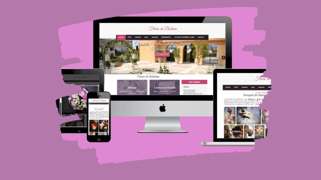 Création de site web et référencement pour fleuriste professionnel à Nice
