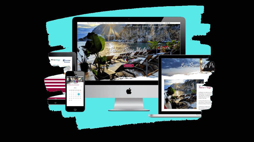 Création de site internet pour Plage et Restaurant professionnel dans le 06